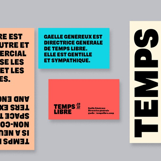 Temps Libre identity and website